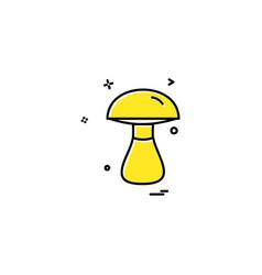 mushroom icon design vector image