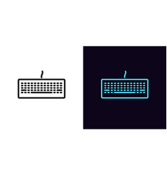 Outline keyboard icon linear keyboard sign vector