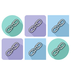 outlined icon of chain with parallel and not vector image