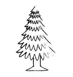 Pine tree plant icon vector