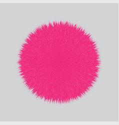 pink fluffy hair ball vector image