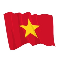 political waving flag of vietnam vector image