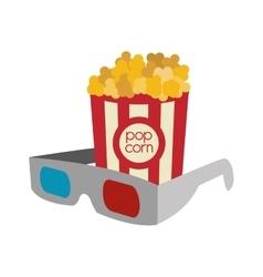 pop corn cinema movie design vector image
