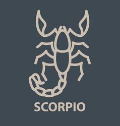Scorpio logo template vector