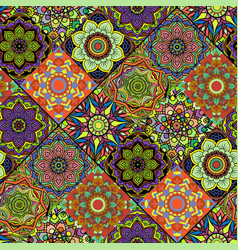 seamless repeating mandala background vector image