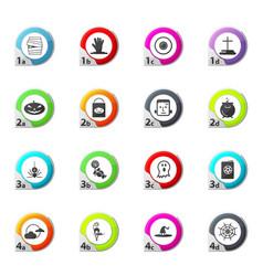 set of halloween icons set vector image