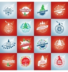 Set of logo Christmas vector