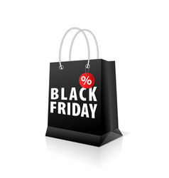 shopping paper black bag empty vector image