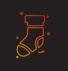 socks icon design vector image