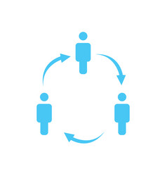 structure of company icon three people in circle vector image