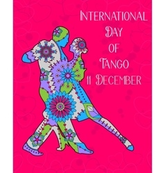 Tango day background vector image