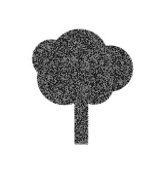 Tree sign black icon from vector