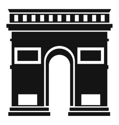 Triumphal arch icon simple style vector image