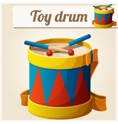Vintage toy drum Cartoon vector