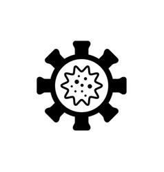 virus or bacteria glyph icon vector image