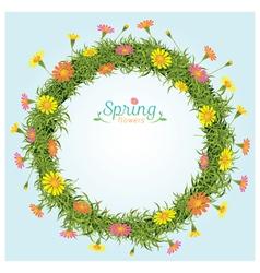 Flowers Spring Season Wreath vector image vector image