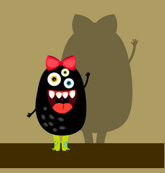 funny black girl monster vector image vector image