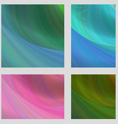 Psychedelic brochure background set vector image vector image