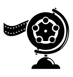 reel film icon simple black style vector image vector image