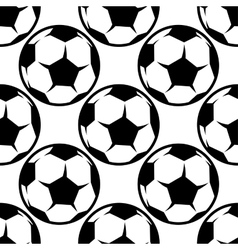 Seamless football or soccer pattern background vector image vector image