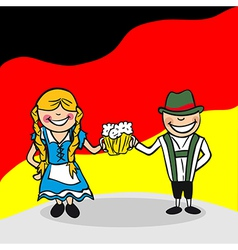 Welcome to Germany people vector image vector image