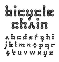 Bicycle chain alphabet vector