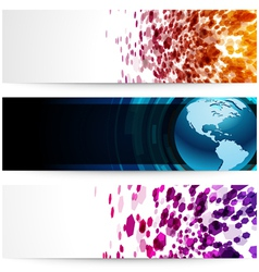 Modern banners vector image vector image