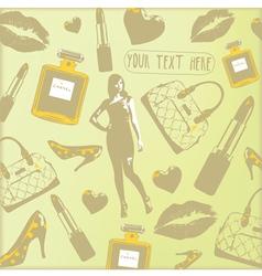 Vintage Beauty Fashion Pattern vector image
