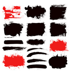brush strokes set 13 vector image