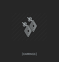 earrings outline icon isolated vector image