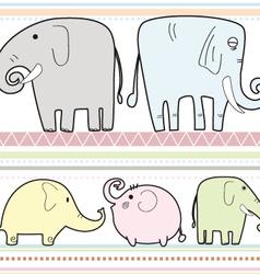 elephant pattern B vector image vector image