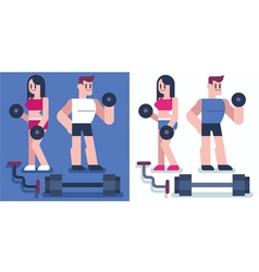 Gym vector image