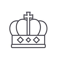 king crown line icon sign o vector image
