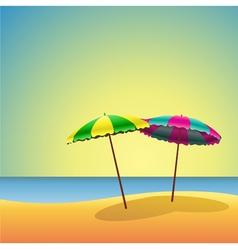 sandy beaches vector image vector image