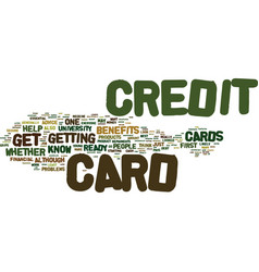 Are you ready for a credit card text background vector