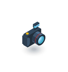 digital photo camera isometric flat icon 3d vector image vector image