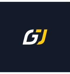 Sign the letter g and j vector