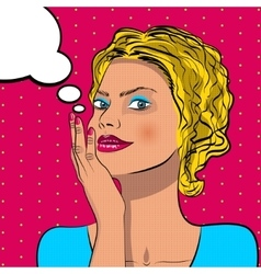 Thinking woman with speech bubble vector image