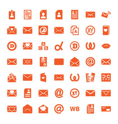 49 letter icons vector image
