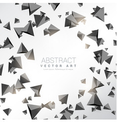 abstract 3d triangle shapes background vector image