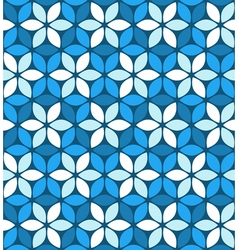 Abstract blue floral pattern vector