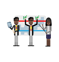 african business team presenting your project vector image