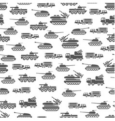 army transport seamless pattern design - military vector image