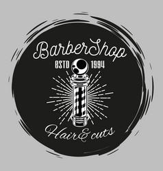 barbershop stamp concept hair cuts barber s pole vector image