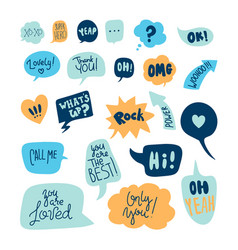 Big set of speech bubbles vector