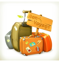 Bon voyage travel icon vector