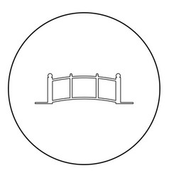 bridge icon black color in circle vector image