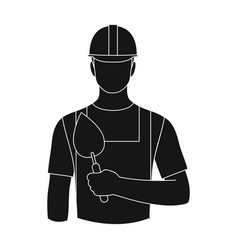 builder masonprofessions single icon in black vector image