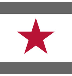 California lone star flag 1836 vector