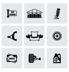 car device icon set vector image